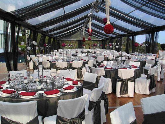 salón decorado para bodas de plata