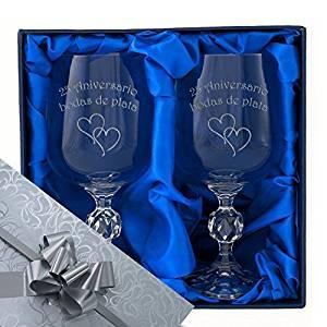 copas de vino para bodas de plata