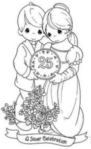 dibujos para colorear bodas de plata