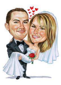 dibujos caricatura bodas de plata