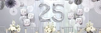 Decoración bodas de plata