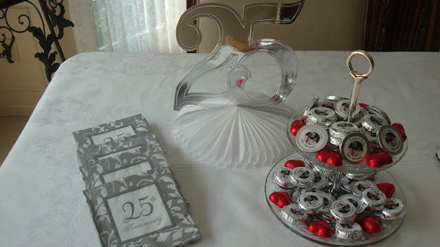 adornos para decorar bodas de plata