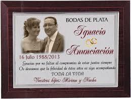 dedicatoria en placa conmemorativa bodas de plata