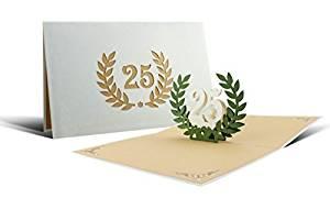 comprar tarjetas de felicitación bodas de plata
