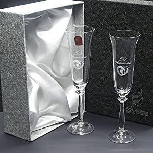 comprar set de estuche con dos copas regalos bodas de plata