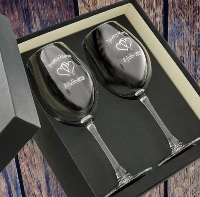 regalos de bodas de plata juego de copas