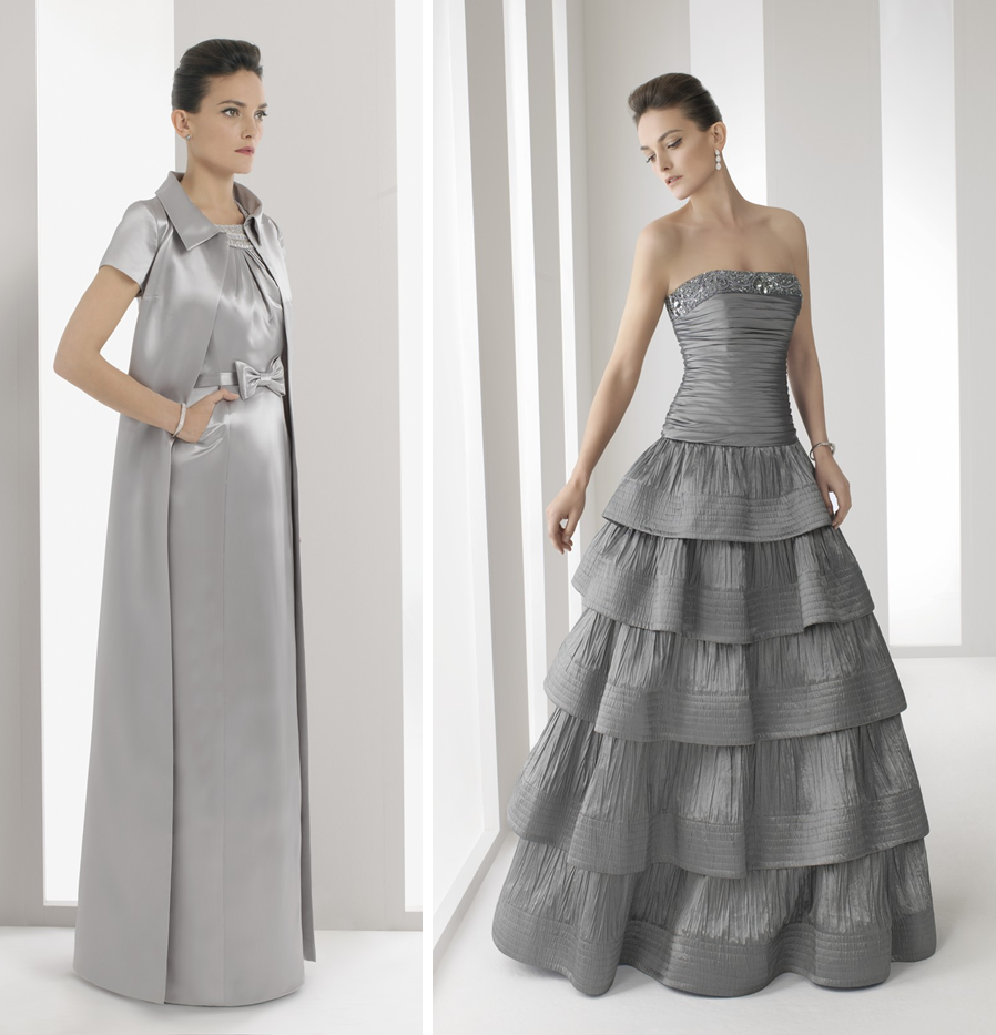 Vestidos y trajes para bodas de plata