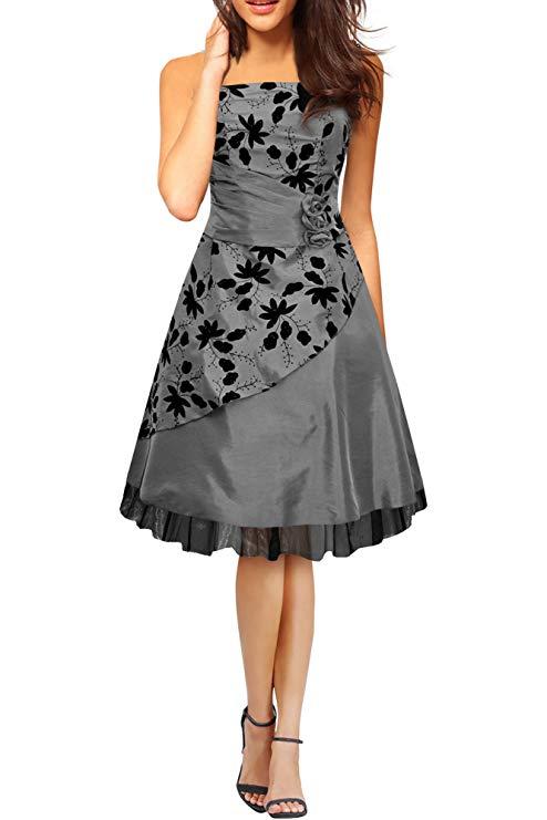 comprar vestido plateado para bodas 25 aniversario