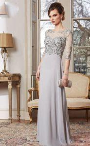 vestidos con mangas para bodas de plata