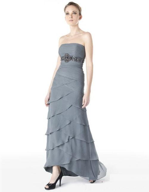 vestido largo para bodas de plata